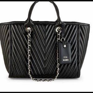 Steve Madden Black Quilted Tote